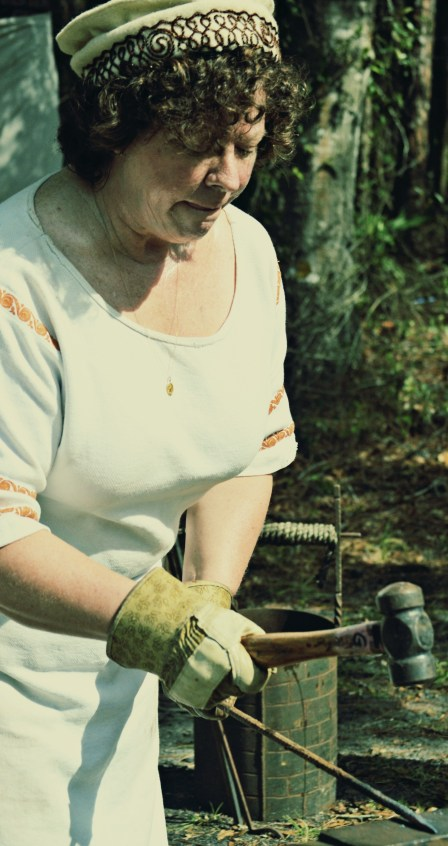 Old Style Woman Blacksmith