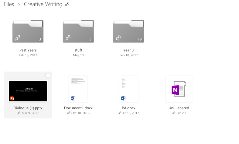 Image of folders in the cloud