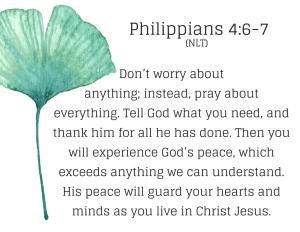 Do not be afraid verses: Philippians 4:7-8 prayer of blessing. Blessing prayer example