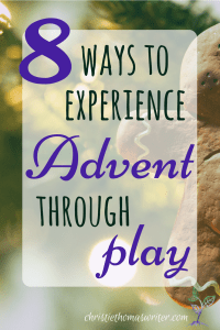 Looking for ways to help your child experience the Christmas Nativity story through play? Check out this list of 8 fun activities that you can set up for your kids to enjoy, mostly on their own. #Advent #Christmaswithkids