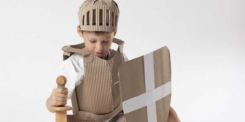 child with armor