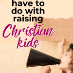 Creating simple spiritual habits is the best way to help your family grow spiritually. There are many healthy habits for spiritual growth to choose from - simply choose one and use your new understanding of the brain science behind habits to implement it into your family faith. You can raise Christian kids without spending every second talking about God! #familyfaith #Christianparenting #spiritualhabits