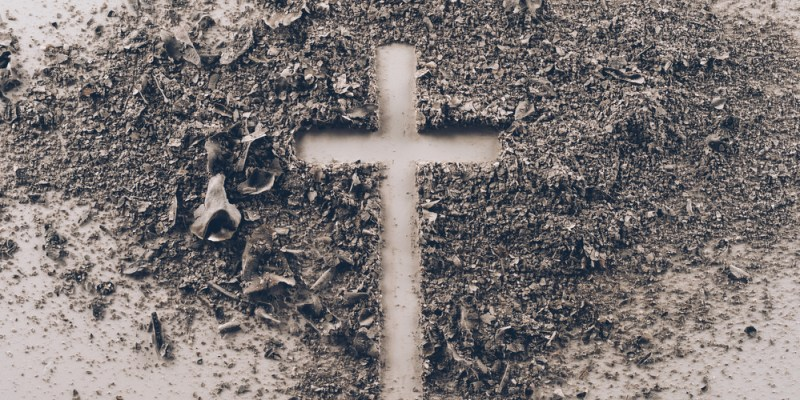 Ash cross for Ash Wednesday