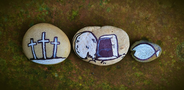 How to explain the Holy Spirit to a child, rocks depicting the passion of Christ