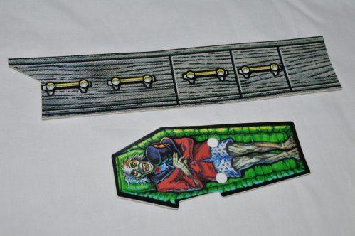Scared Stiff NOS Coffin Decal Set 31-2589-1 & 31-2589-2