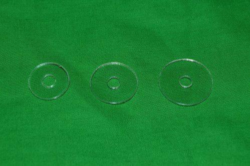 Laser Cut Clear Washers