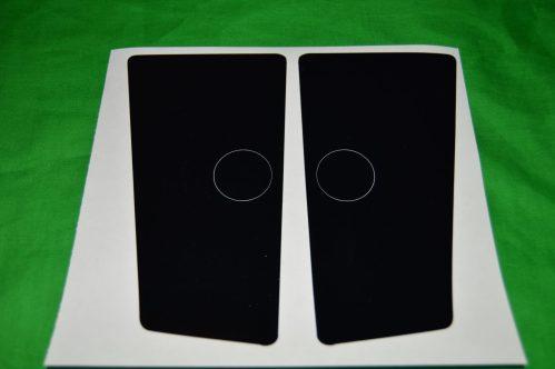 Flipper Button Cabinet Protectors Black & Clear Set
