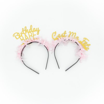 Birthday Babe - C'est Ma Fete - Headbands - party up top - bracket collections - little shop of wow
