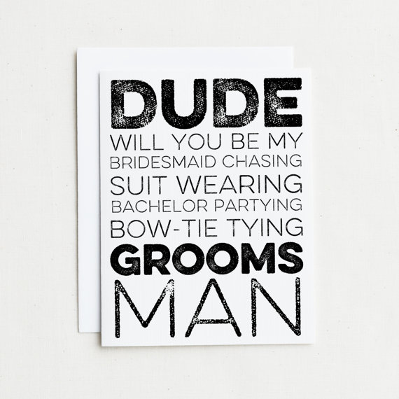 Dude will you be myoomsman card little shop of wow dude will you be mygroomsman junglespirit Images