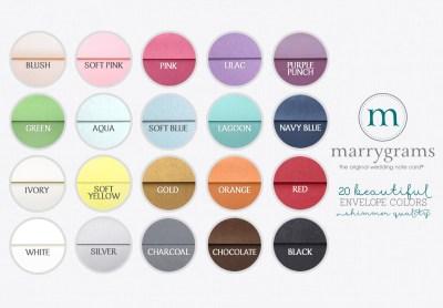 Envelope-colors - marrygrams