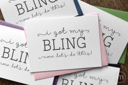 I got my bling now let's do this card bridesmaid maid of honor- marrygrams - little shop of wow