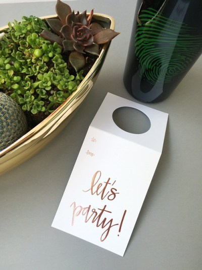 Let's Party Close Up - Wine Tag - Chez Gagne - Little Shop of WOW