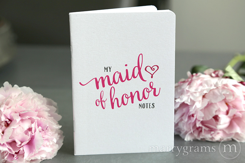 Maid of Honor Notebook - Marrgrams - Little Shop of WOW