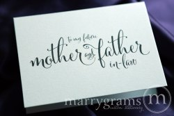 To My Future Mother and Father In law Card - Marrygrams - Little Shop of WOW