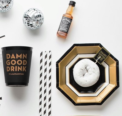 lets-get-cray-pret-a-party-box-little-shop-of-wow-adult-party-in-a-box-black-white-gold-tassle-banner-headbands-lets-party-jack-daniels