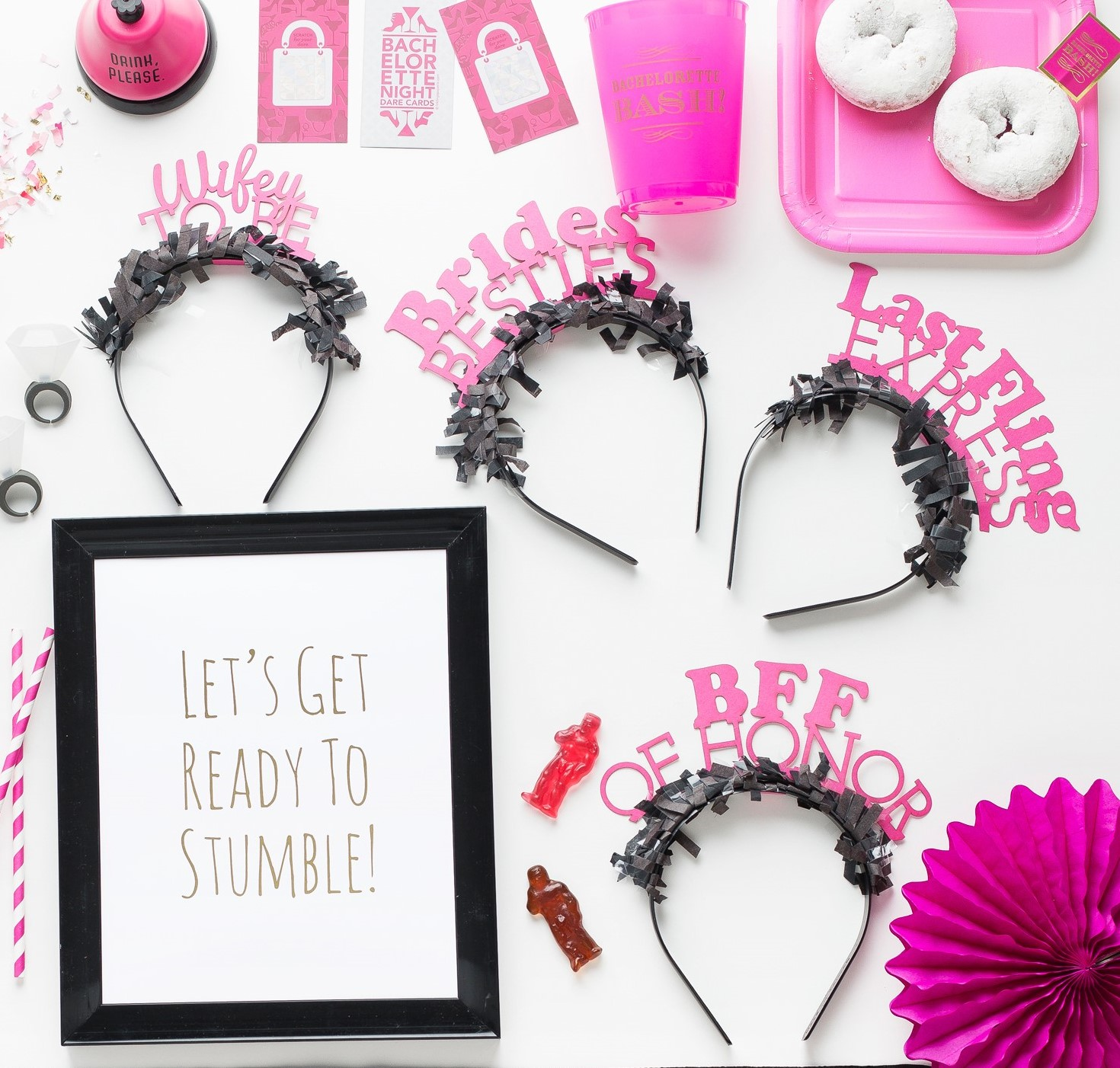 Party Up Top Headbands: Bachelorette Pack - Little Shop of Wow