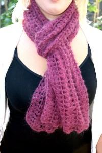 Sea Shells Crochet Scarf Free Pattern For Kids & Women My