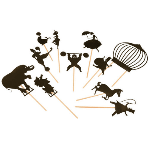 Shadow puppets in circus theme