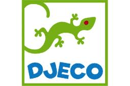 green gecko with blue djeco text