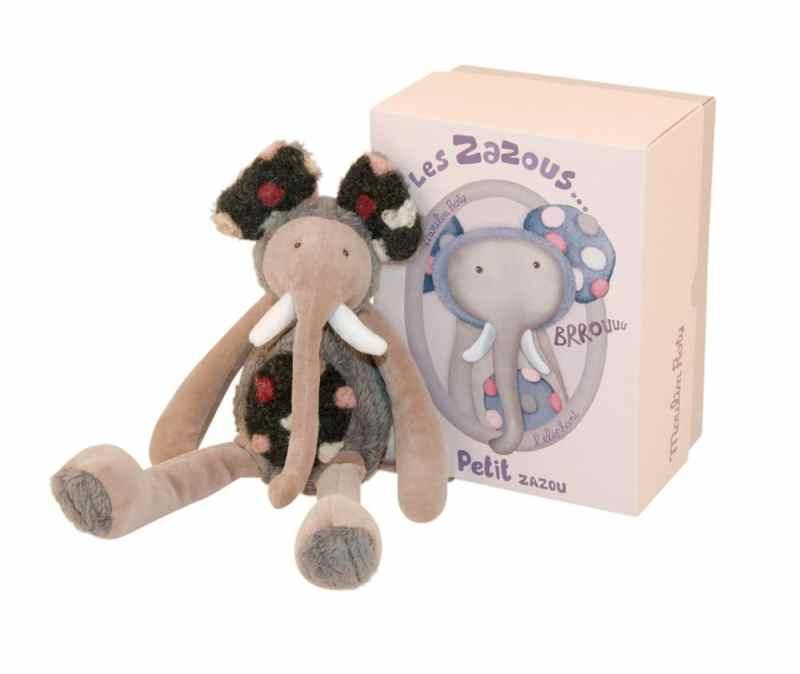les Zazous small elephant doll