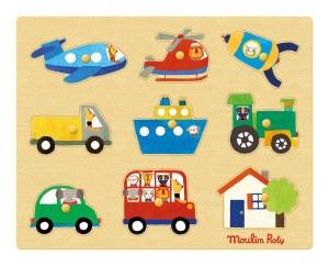 Les Popipop transport peg puzzle