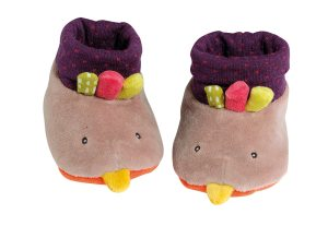 Les Cousins hen baby slippers - Moulin Roty
