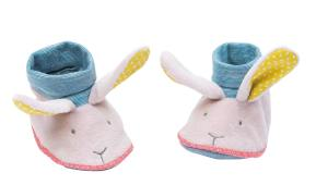 Baby slippers, Moulin Roty, Mademoiselle et Ribambelle rabbit baby slippers, Mademoiselle rabbit baby slippers