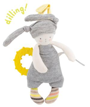 les petits dodos - grey jersey with silicone teething ring