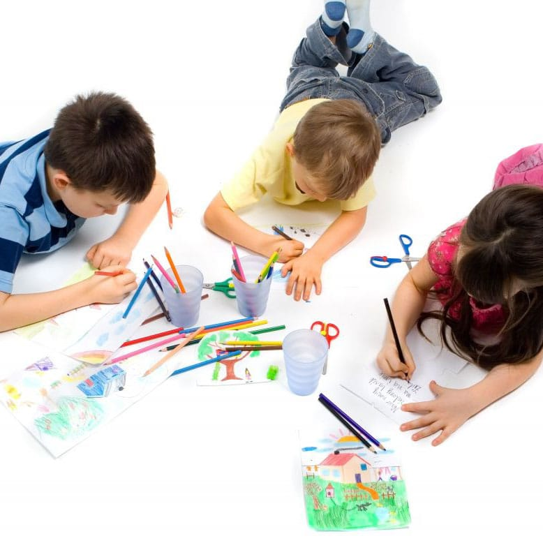 craft toys - children colouring and drawing