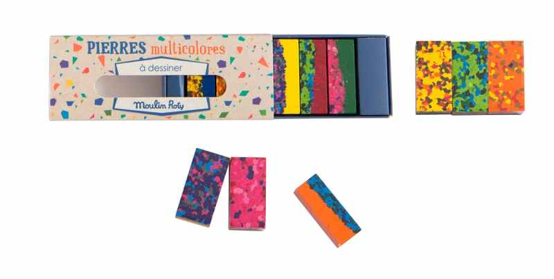 wax crayon drawing blocks for children's craft - multicoloured magic crayons