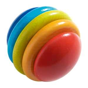 HABA rainbow pegging game wooden discs for fine motor development and cognitive skills