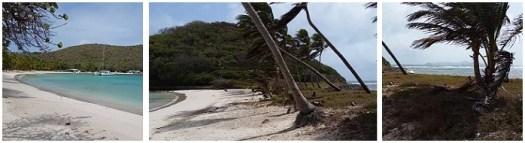 Little strip of land on Mayreau Island