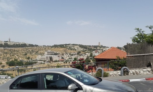 Looking east over Kidron Valley at BYU Jerusalem Center