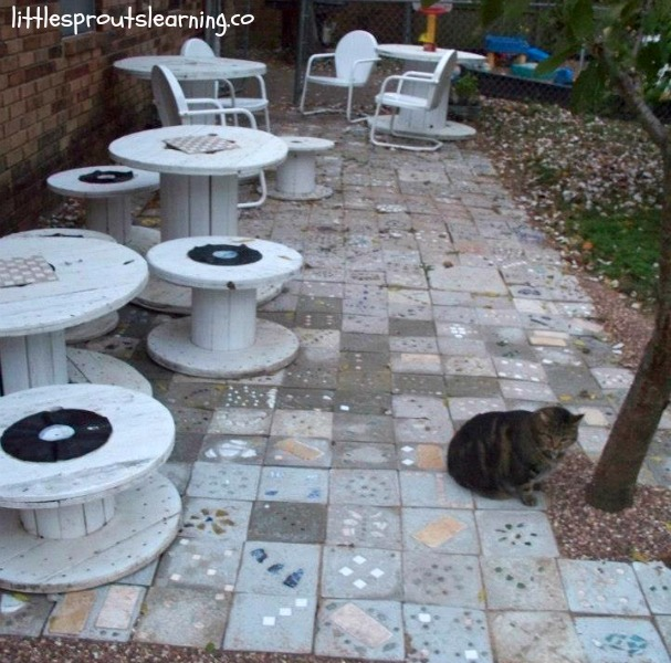 how to make a homemade stepping stone patio