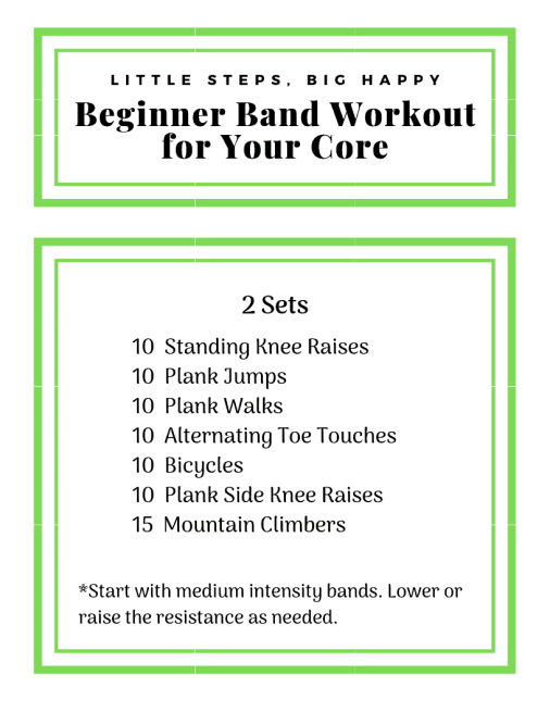 Beginner Band Workout for Your Core