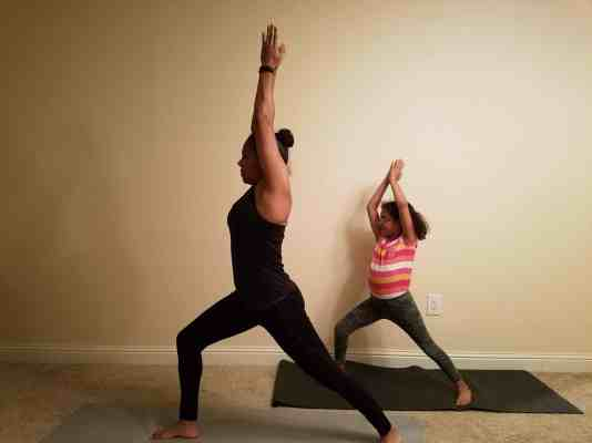 Family Friendly Yoga Routine: Warrior I Right Side