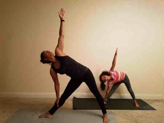 Family Friendly Yoga Routine: Triangle Pose Right Side