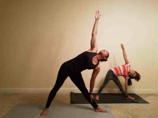 Family Friendly Yoga Routine: Triangle Pose Left Side