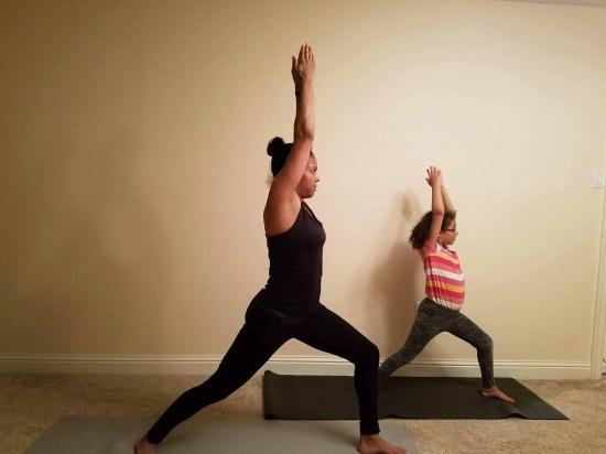 Family Friendly Yoga Routine: Warrior I Left Side
