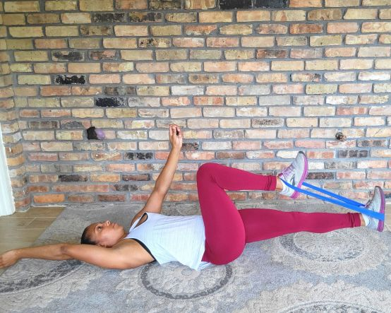 Dead Bug with resistance band - Resistance band exercises for abs