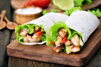 NO-Cook Meal Prep Ideas: Chicken Wrap