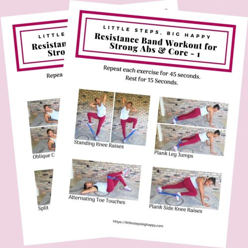 Resistance band abs exercises pdf