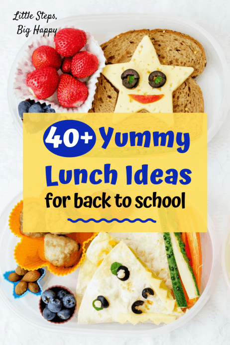 40+ Yummy Lunch Ideas for Back to School