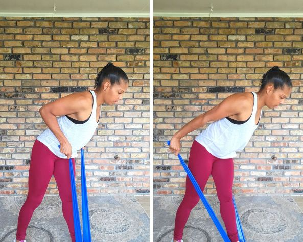 Tricep Kickback - Resistance band Exercises for Arms