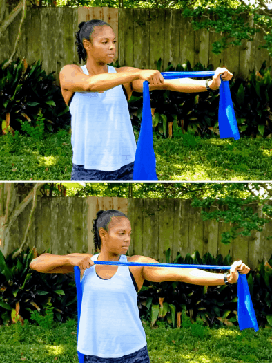 One Arm Row - Resistance Band