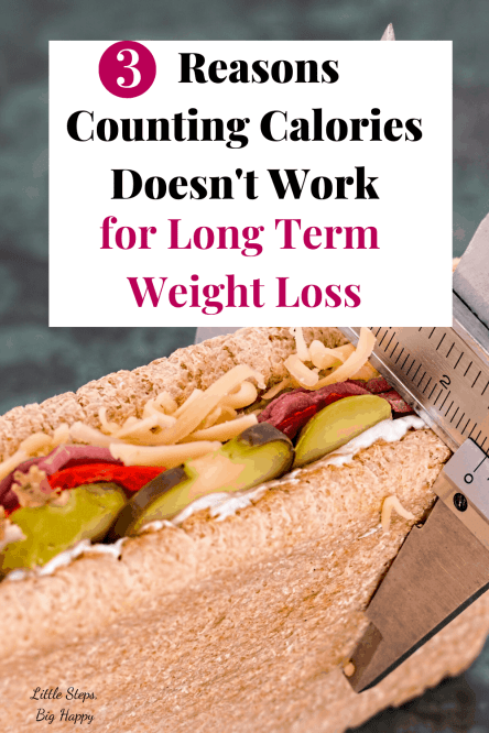 3 Reasons Counting Calories Doesn't Work for Long Term Weight Loss