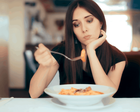 Stop eating when satisfied, not full.