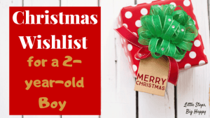 Christmas Wishlist for a 2-year-old Boy