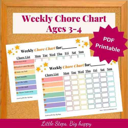 chore chart for kids - independence for kids