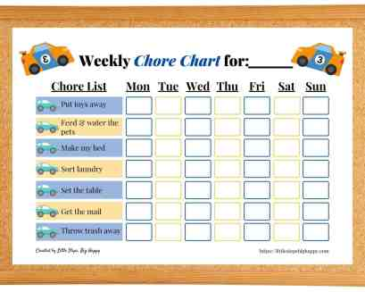 Printable Chore Chart PDF